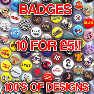 Mixed-Button-Badges-Funky-Cool-Design-Cheap-Clearance-Stock-Pin-Badge