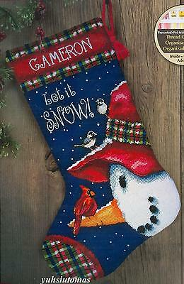 Dimensions 9146 Snowman And Friends Stocking Needlepoint Kit Stitch