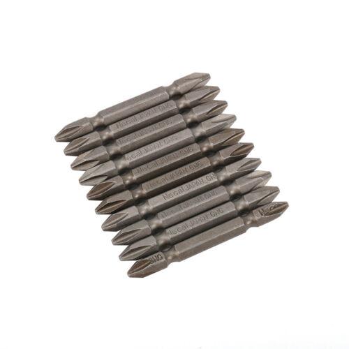 10Pcs 20-200 mm de long tête magnétique Croix Alliage S2 Acier Embouts De Tournevis Set