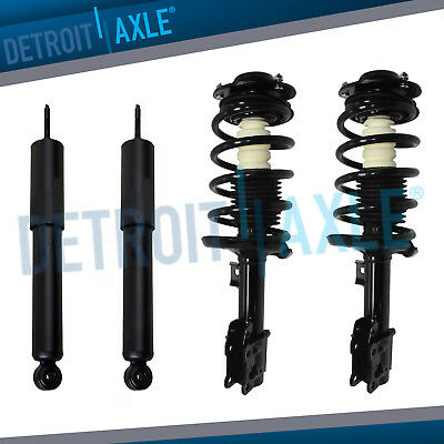Detroit Axle New Front Driver /& Passenger Side Complete Quick Strut /& Spring Assembly Set Rear Shock Absorbers for Malibu G6 Aura 2 2 Both Both