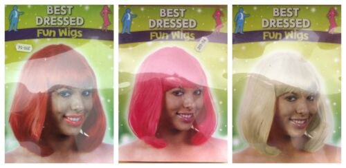 New Women Ladies Fancy Fun Party Dress Wig Bob Style Full Short Hair Wig Cosplay