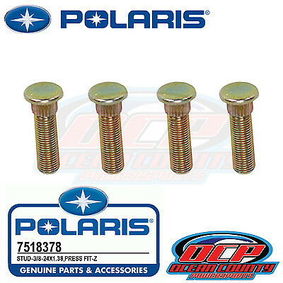 2012 - 2016 NEW PURE POLARIS RZR 570 4 PACK OF STOCK REAR WHEEL STUDS 7518378