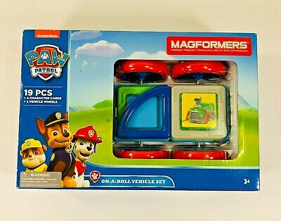 MAGFORMERS PAW PATROL 19 PCS RESCUE VEHICLE ON-A-ROLL-SET 66005 3 YEARS NIB