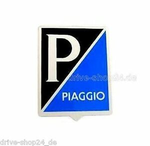 Piaggio P Plakette Zeichen Sticker Fur Vespa 37x49mm Ebay