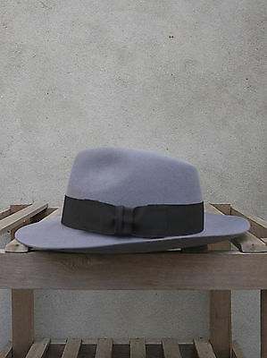 UK Made Grey Fedora Fur-Felt Trilby Hat by Christys/' of London 100/% Fur Felt