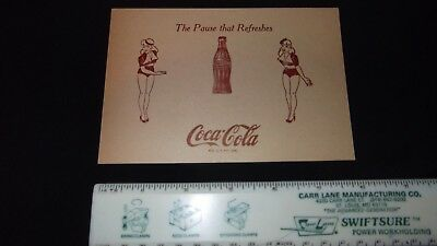 """Coca Cola /""""the PAUSE that refreshes/"""" Postcard 1930 Illustrated Vintage Coke"""