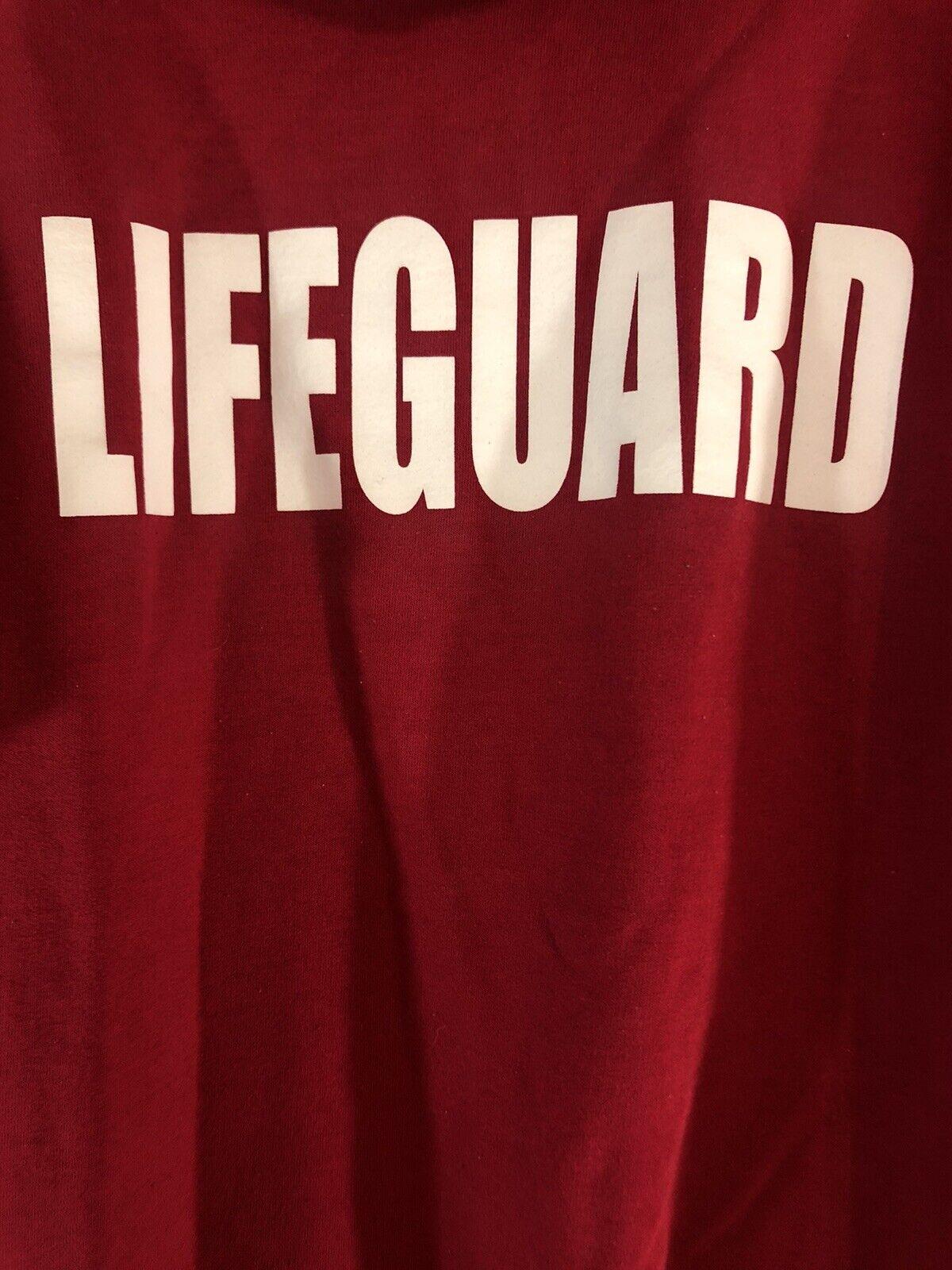 """KAH-NEE-TA"" Warm Springs, OR, Red Novelty Lifeguard Sweatshirt Adult XL 46-48"