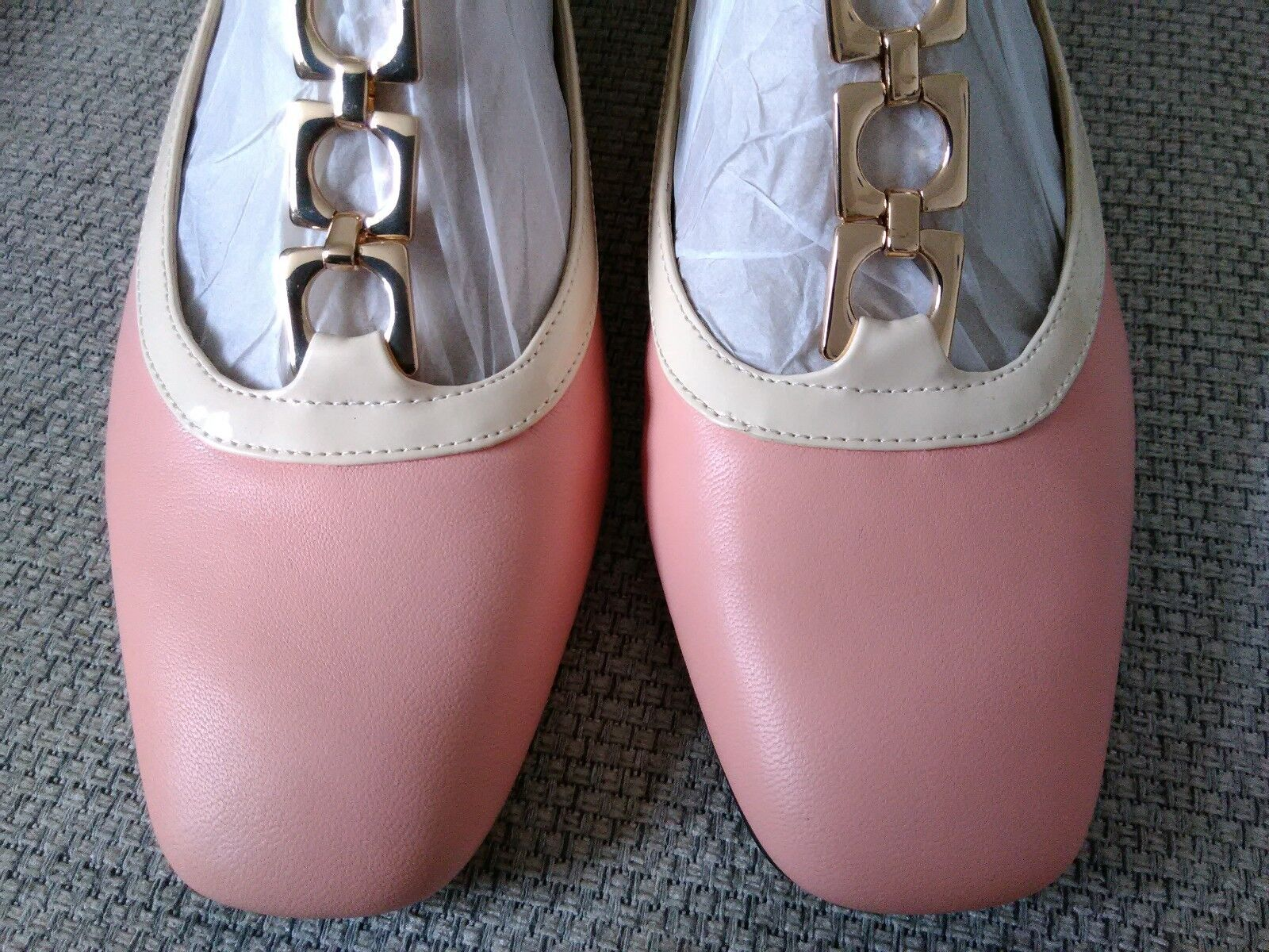 Orla Kiely Clark's, Barbara Pink Leather shoes, UK 4.5, EUR 37.5, Retro
