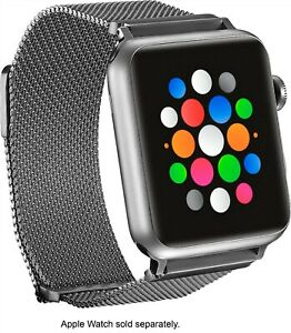 Platinum-Magnetic-Stainless-Steel-Mesh-Band-for-Apple-Watch-42mm-44mm-Silver