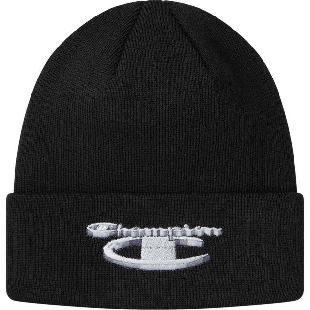 7eda51d35e289 Supreme Champion Mens Black 3d Metallic Cuffed Beanie Hat Fw18 Authentic in  Hand
