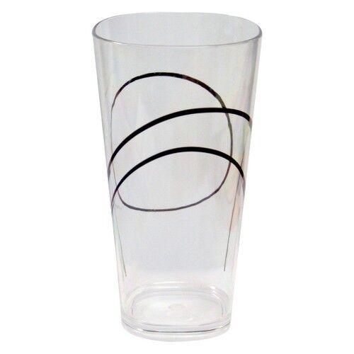 Corelle Coordinates Square Acrylic Glass Set of 6 - Simple Lines (19 oz)