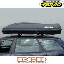 FARAD - BOX BAULE PORTAPACCHI F3 N7 680LT NERO GOFFRATO - PORTABAGAGLI AUTO