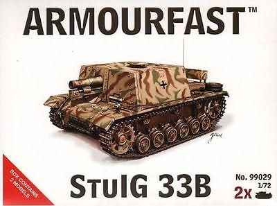 1//72 Tank plastic kit Hat Armourfast 99029 Free post StuIG 33B assault gun x2