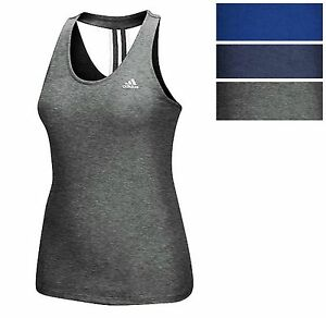 adidas Womens Derby Tank Athletic Racerback Stretchy Tank Top Tee All Col Sz
