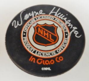 WAYNE-HUIZENGA-Signed-Hockey-Puck-Autograph-Signature-NHL-Florida-Panthers-RARE