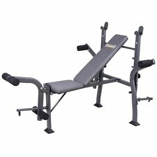 Body Champ BCB500 Standard Weight Bench with Butterfly Attachment, Gray