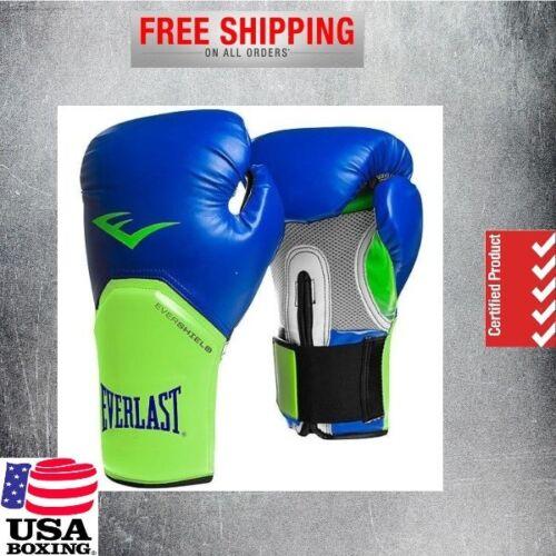 Everlast MMA Boxing Gloves Men Women Training Gym protex Leather Blue Green 12oz