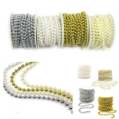 Dekokette collier de perles perles Guirlande Décoration de Table perles hochzeitdsdeko 10 km