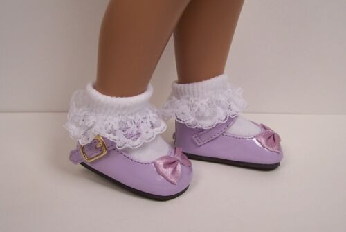"""LAVENDER Patent  Mary Jane Doll Shoes FOR 16/"""" 17/"""" Sasha DEBs"""