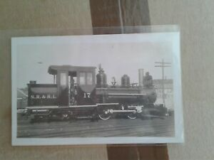 Sandy-River-amp-Rangeley-Lakes-SR-amp-RL-narrow-gauge-Railroad-train-real-photo-RPPC