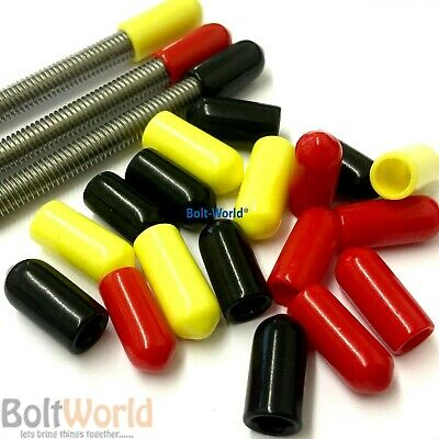 ROD BAR STUDDING STUD SCREWS BOLTS CABLE SAFETY VINYL THREAD COVER CAPS GREEN