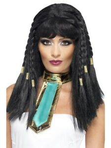 NEW-Cleopatra-Wig-Egyptian-Queen-Ladies-Fancy-Dress-Halloween-Accessories