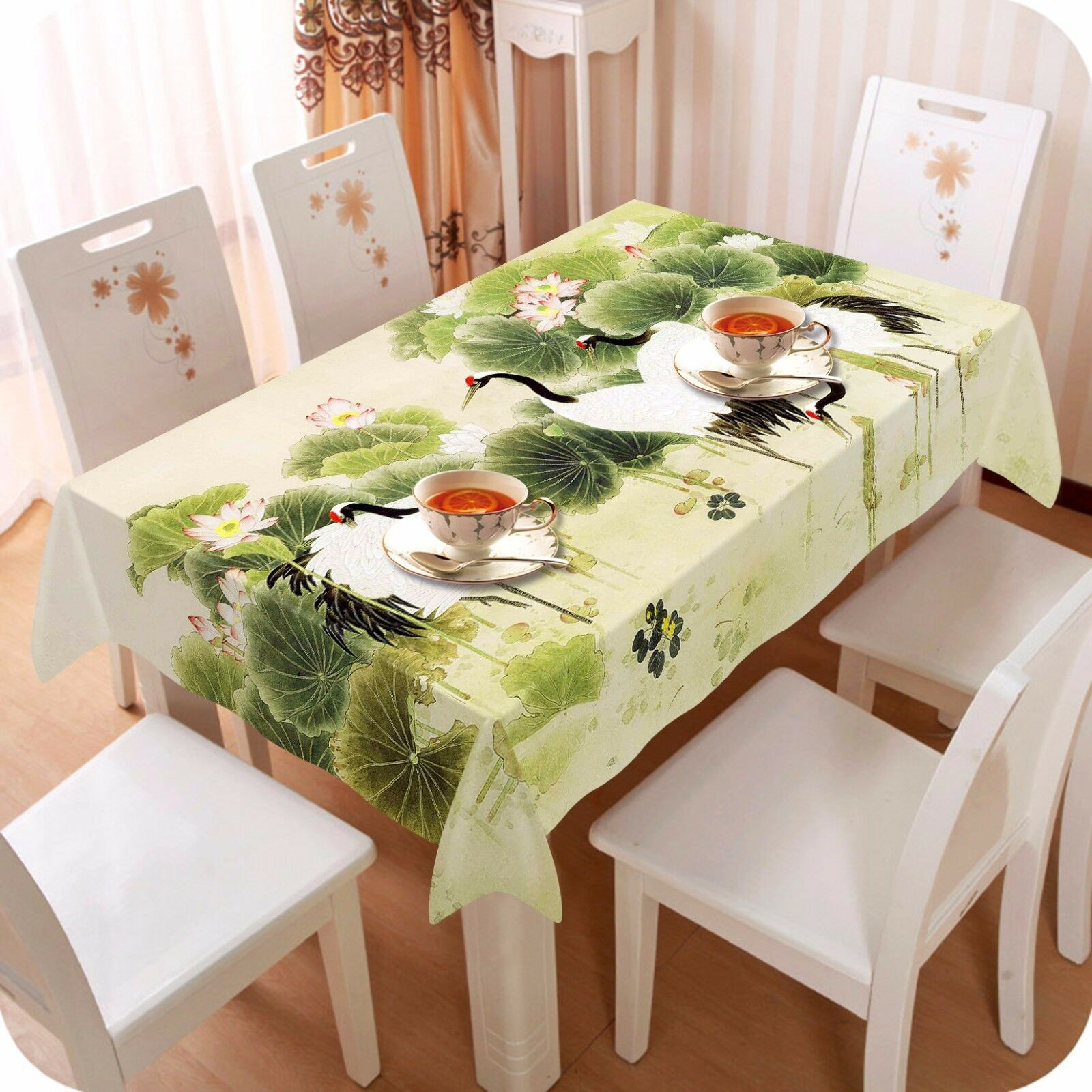 3D Crane 4236 Tablecloth Table Cover Cloth Birthday Party Event AJ WALLPAPER AU