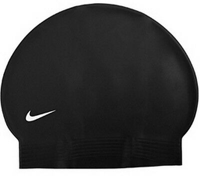 New Nike Latex Swim Cap- Black,Navy,Royal,White,Silver,Red - 1 size fits adults