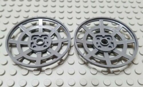 LEGO Lot of 2 Dark Bluish Gray 6x6 Webbed Space Radar Dish Pieces