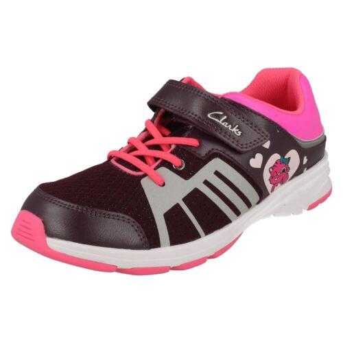 Girls Clarks Gloforms Casual Trainers /'ReflectGlo/'