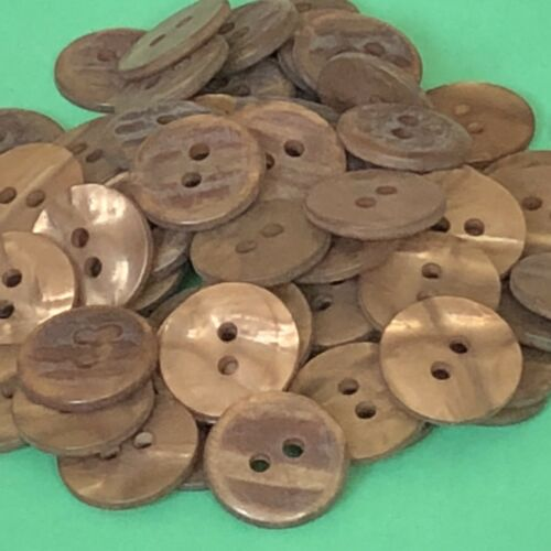 15 X 15mm #1566 Botones Marrones De Bronce
