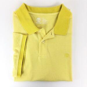 Timberland Men s Short Sleeve Keene River Yellow Oxford Polo Shirt ... b996d281c225a