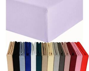 Full-Deep-Fitted-Sheet-SALE-100-Poly-Cotton-Bed-Sheets-Single-Double-Super-King