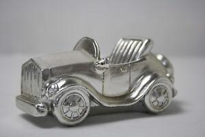 Stifte Halter Auto Silber Büro Schreibtisch Mitbringsel Geschenk Oldtimer Cabrio