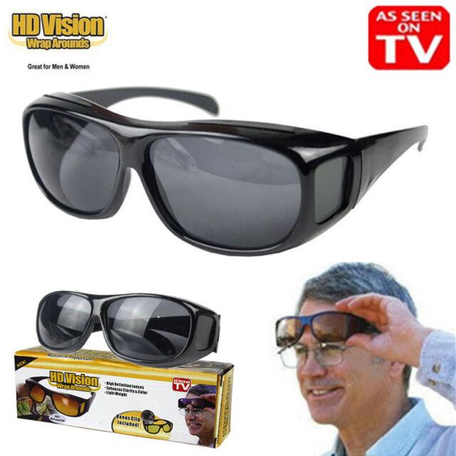 fd1e0f8fc87c2 Unisex HD Vision Driving Sunglasses Wrap Around Glasses As Seen TV Anti  Glare UV