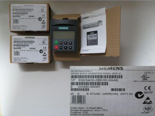 Siemens  Micromaster 4  MM430 BOP-2 6SE6400-0BE00-0AA0  OVP  14-3#2877