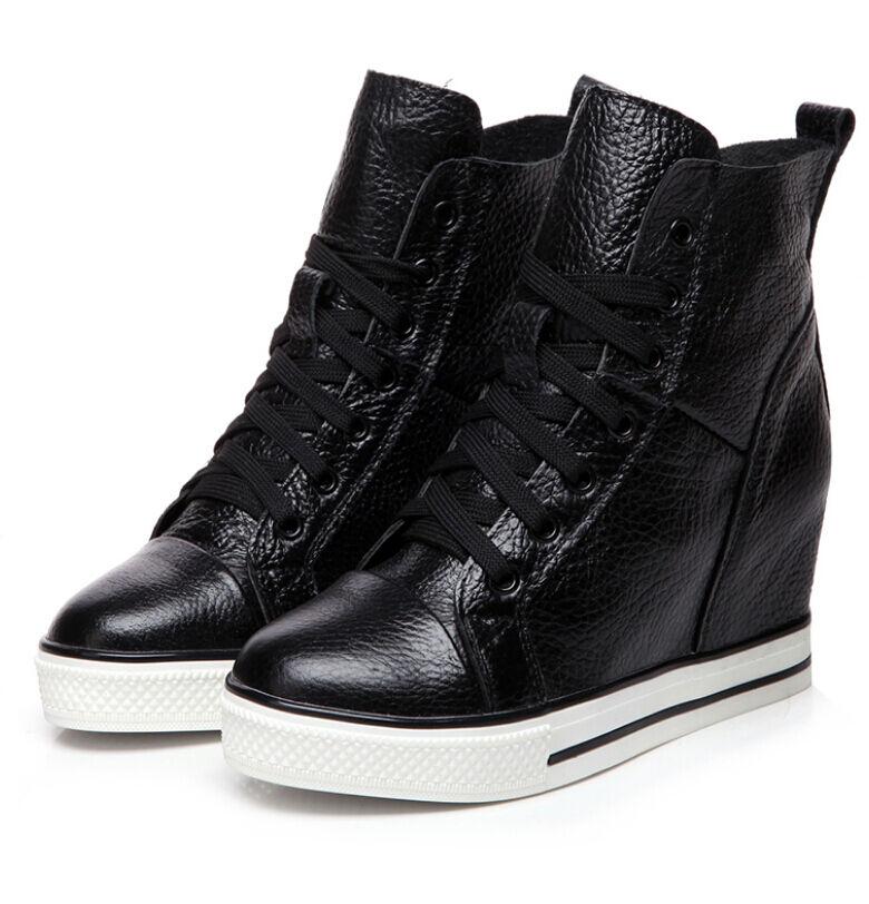 Para mujer botas al Tobillo acordonadas Tacos Cuña Oculta Oculta Oculta Zapatos Informales Con Cordones  Disfruta de un 50% de descuento.