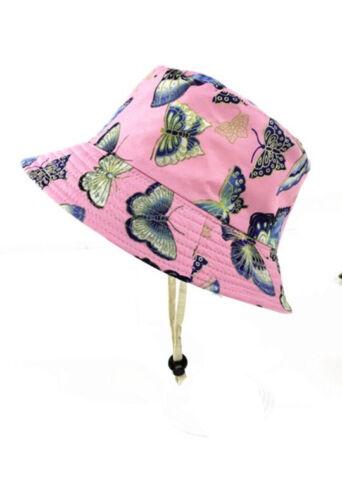 Children/'s 100/% Cotton Printed Bucket Hat Summer Sun Hat