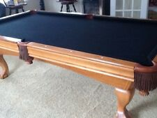 Brunswick Contender 8u0027 Pool Table With Black Felt Top. Excellent Condition!