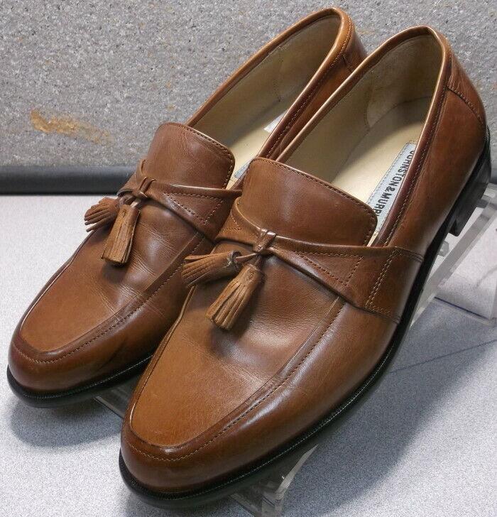 22f7f18019f 151346 MS50 Men s shoes Size 9.5 M Tan Leather Slip Ons Johnston   Murphy