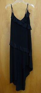 Dress-Womens-Size-Large-Black-Sparkle-Ruffle-Dress-Good-Condition