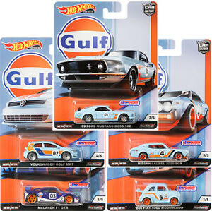 hot wheels 2019 car culture gulf racing set of 5 fpy86. Black Bedroom Furniture Sets. Home Design Ideas