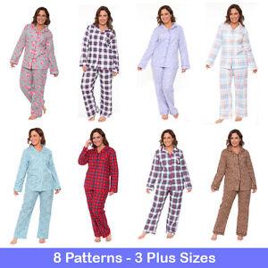 3ab1602c20 White Mark Plus Size Women s Flannel Pajama Set 100% Cotton 2-PC PJ ...