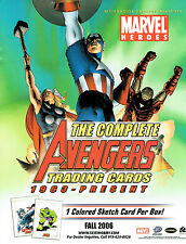 THE COMPLETE AVENGERS TRADING CARDS SELL SHEET