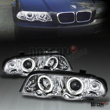 1999-2001 BMW E46 4Dr Dual Halo Angel Eye Projector Headlights