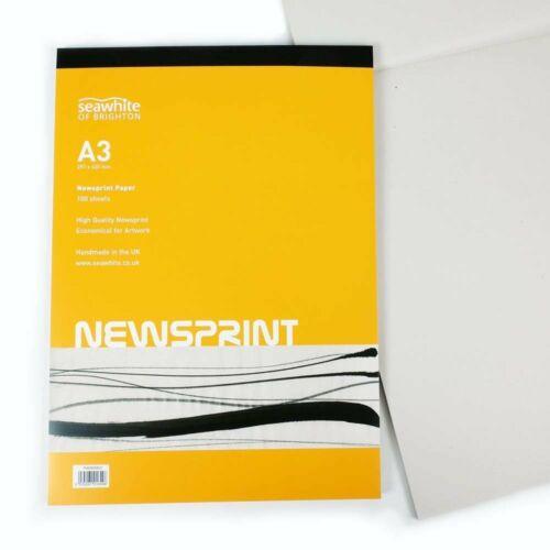 Seawhite of Brighton Newsprint Paper Drawing /& Sketching Art Pad A3
