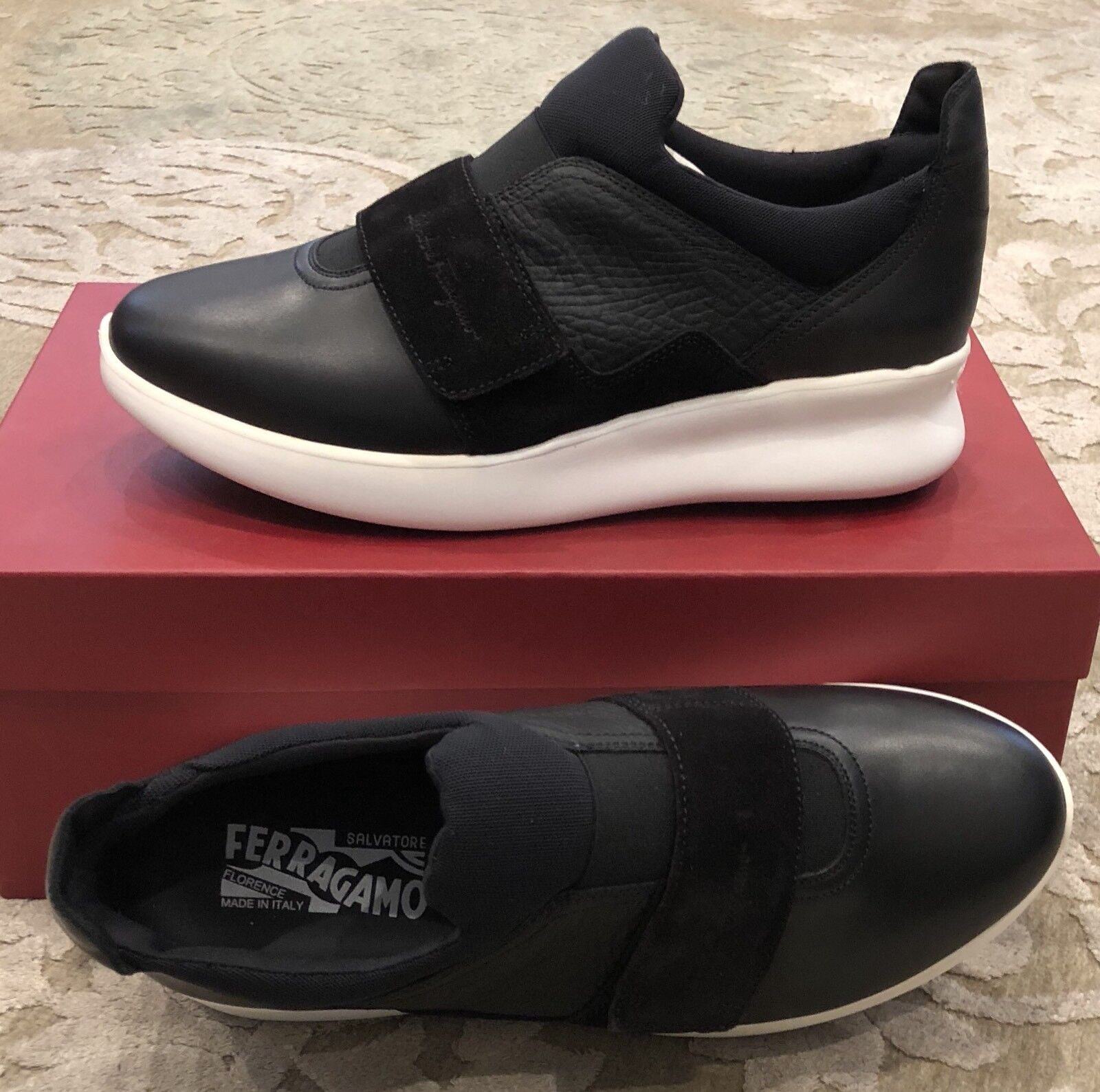 75a22c77305 650 New Salvatore Ferragamo Mens shoes Black Sneakers Size Size Size 6.5 US  5.5 UK 39.5 ...