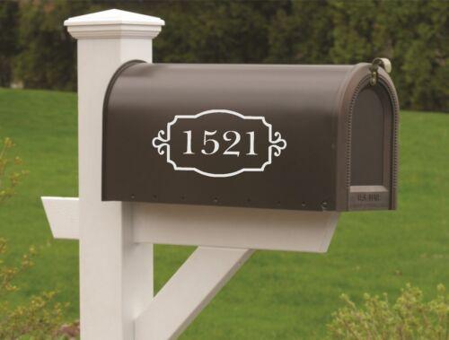 Mailbox Numbers-Vinyl Decal Set of TWO-Vinyl Numbers-Curb Appeal