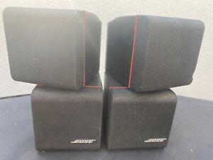 Bose Acoustimass Redline Cube Satellite Speakers x4