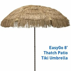 Image Is Loading Beach Umbrella Outdoor Patio Best Tiki Umbrellas Thatched